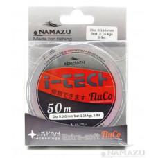Леска Namazu I-Tech Fluco, 50 м, 0,309 мм, до 7,01 кг, прозрачная NIT50-0,309