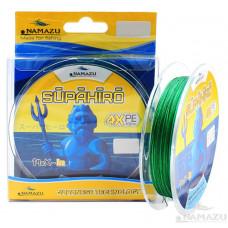 Шнур плетеный Namazu Supahiro 4Х, 100 м, 0,1 мм, до 3,57 кг, болотно-зел NSH100-0,1