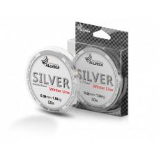 Леска Allvega Silver (50м) 0.09мм (1,04кг) серебристая