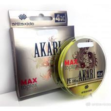 Шнур плетеный Shii Saido Akari 4X, 150 м, 0,405 мм, до 20,39 кг, yellow SBLA150-4X-41