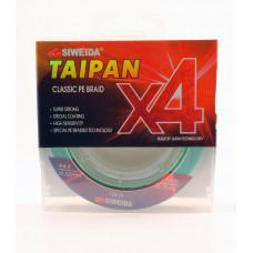 Леска плетеная Siweida Taipan Classic PE Braid X4 135м 0,32мм (22,70кг) светло-зеленая