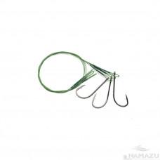 Поводок сталь/нейлон Namazu зел, D0,42 мм, 30 см, крючок № 1/0, до 23 кг 3 шт N-LS42-30BH1/0L