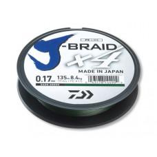 Леска плетеная Daiwa J-Braid X4 270мм 0,19мм (10,2кг) зеленая