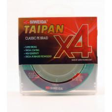 Леска плетеная Siweida Taipan Classic PE Braid X4 135м 0,37мм (27,30кг) светло-зеленая