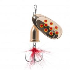 Блесна Premier Fishing Gidra Bug №4, 12г. GO с мухой PR-SPRH12B-4GO